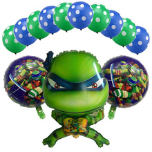 Teenage Mutant Ninja Turtles balloons 13pcs cute cartoon Turtles balloon dut blue green latex ballon party decorations child toy цена