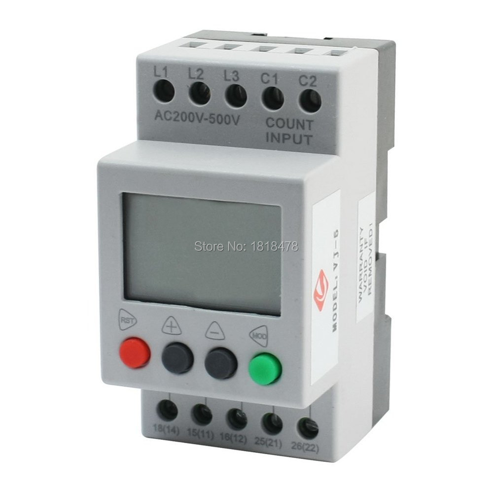 VJ5 LCD Display Phase Failure Sequence Unbalance Protective Relay 3-Phase And Voltage Relay
