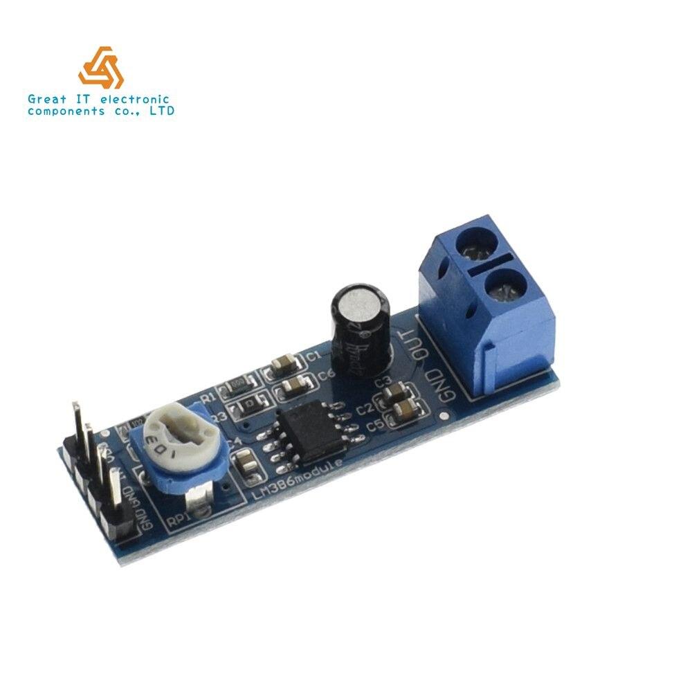 LM386 Super MINI Amplifier Board DIY Amplifier Kit 3V 12V Power ...