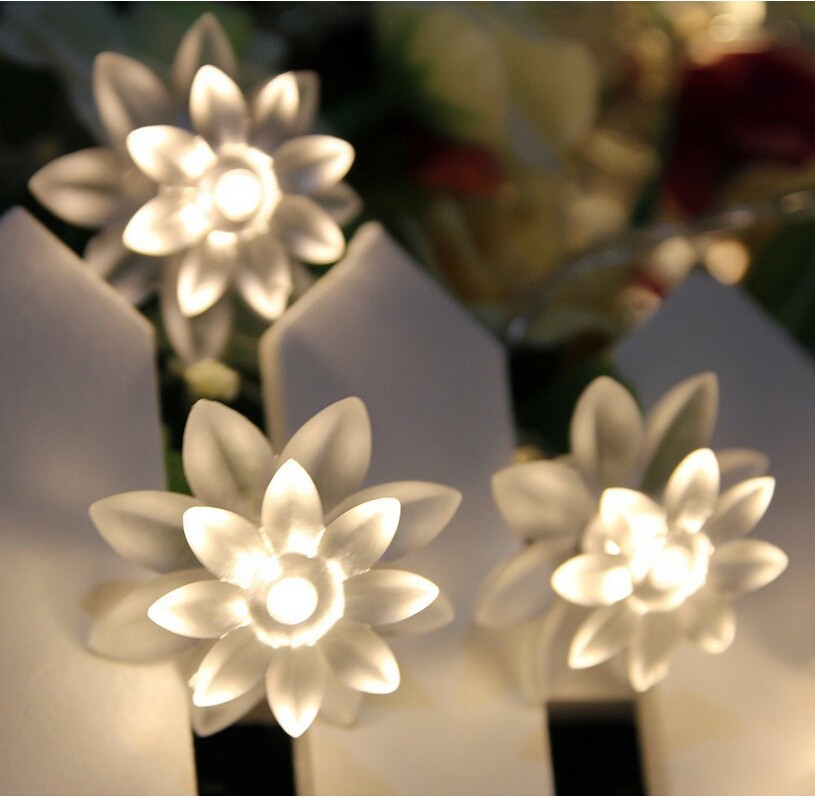 5M 28LED pen Lotus Flower String lyser ferie belysning for - Ferie belysning - Bilde 2