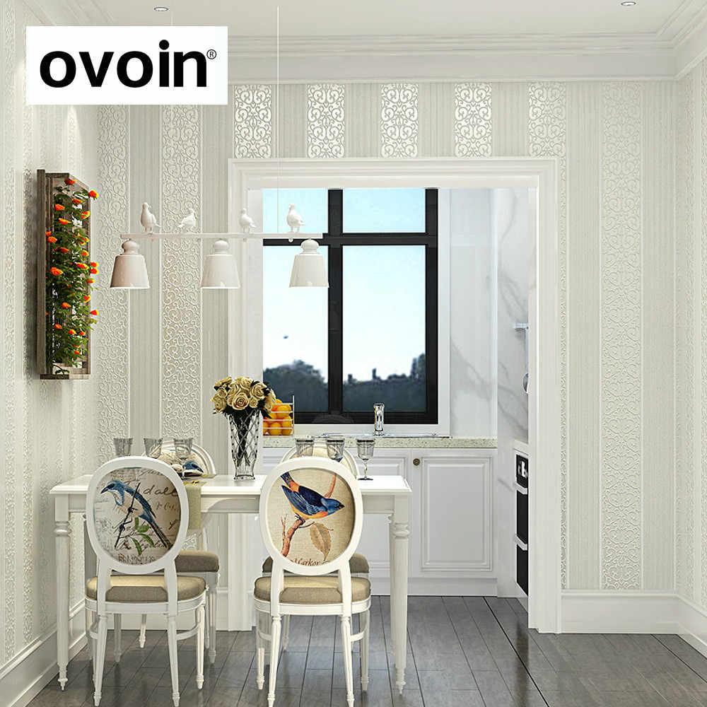 Wit/Geel/Beige/Roze/Bruin Shimmer Damast Gestreept Behang Voor Slaapkamer Moderne Reliëf Textuur Muur Papier roll Home Decor