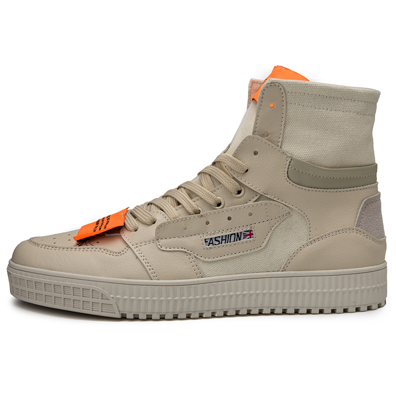 Alta 5605 preto Canvas Sapatos Zapatos Patchwork Homens Casuais De Dos Novas Lace branco Moda Hombre up Ankle 2018 M 44 Pu Botas Bege 39 top Boots x7vw0