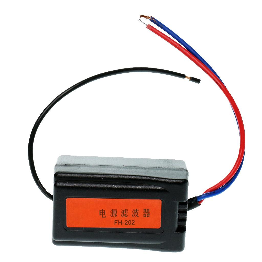 DC 12V Car Radio Audio Pre-wired Noise Filter System Ground Loop Isolator Filtro de audio de aislador de ruido