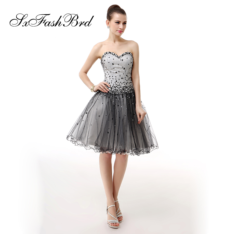 Robe Longue Sweetheart With Beading A Line Tulle Short Formal Elegant   Dresses   for Women Evening Party   Prom     Dress