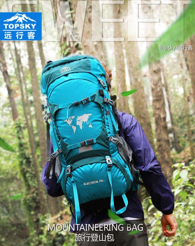 Prix pour Topsky 70L professionnelle escalade sac à dos Camping sac de sport hommes femmes sac cadre interne sac à dos mochilas sacs de sport