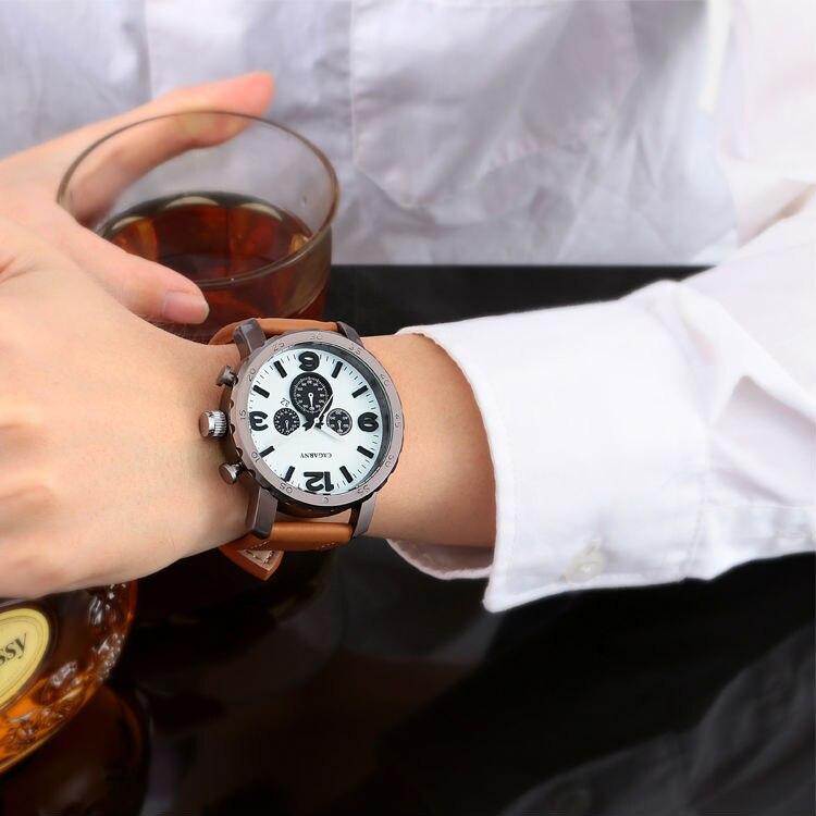 Случайни кварцов часовник мъжки - Мъжки часовници - Снимка 4