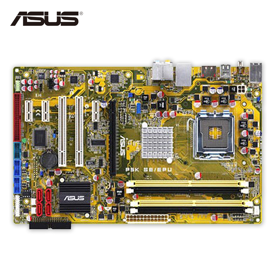 Asus P5K SE/EPU Original Used Desktop Motherboard P35 Socket LGA 775 DDR2 8G SATA2 USB2.0 ATX universal cell phone holder mount bracket adapter clip for camera tripod telescope adapter model c