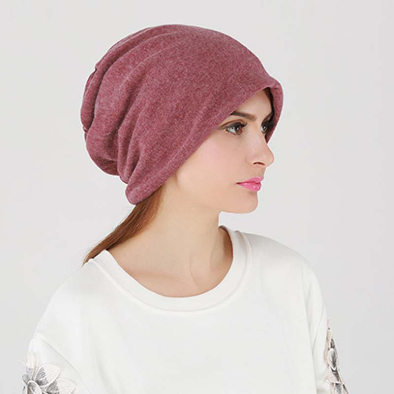 Autumn Winter Unisex Hats Three Use Women Hooded Scarf Hat Turban Knitted Cap Solid Color Female Skully Beanies Hats Mens Gorros fashion winter hat solid color woolen flat top cap unisex autumn and winter cap w005