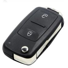2 Button Flip Fob Remote Folding Key Shell for VW Polo Transporter Golf Uncut Blade Car