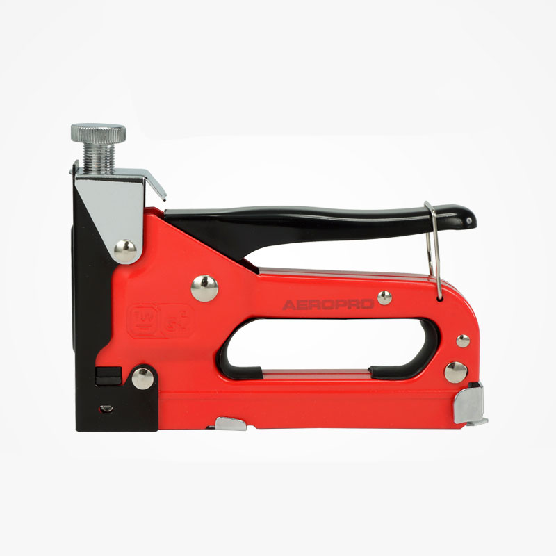 Staple gun Nailer Hand stapler Hand nailer Stapling Nail Tools NEW mini stainless steel stapler staple set red