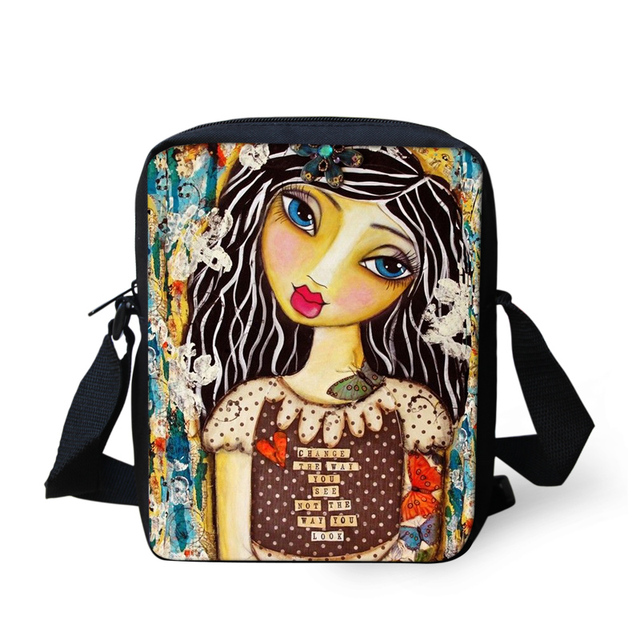 FORUDESIGNS Lady Small Travle Bags Little Girls Book Perfect As A Snack For