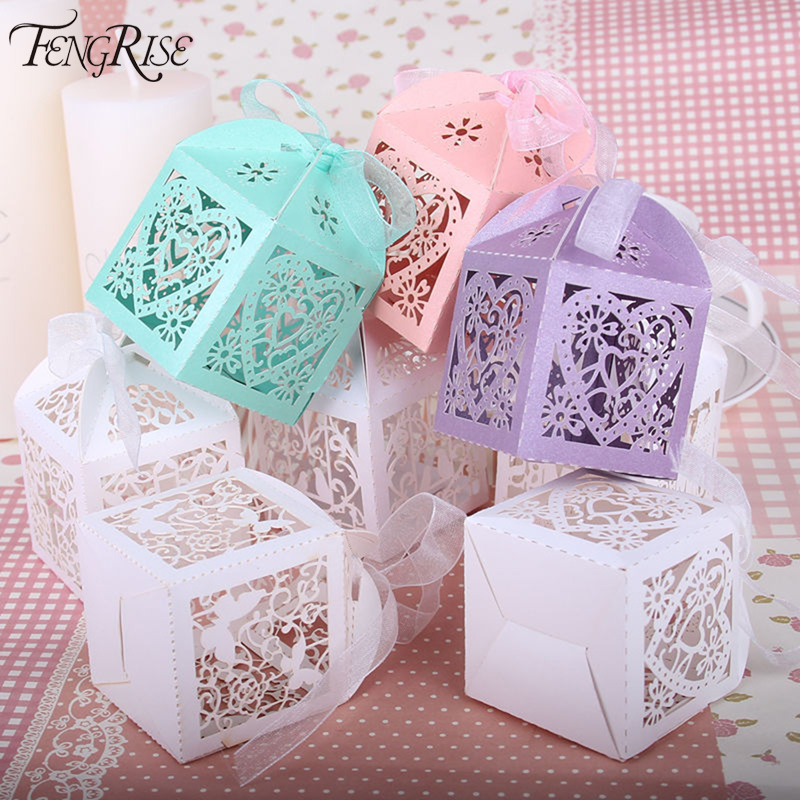 buy cheap discount fengrise 50pcs wedding favors candy box p