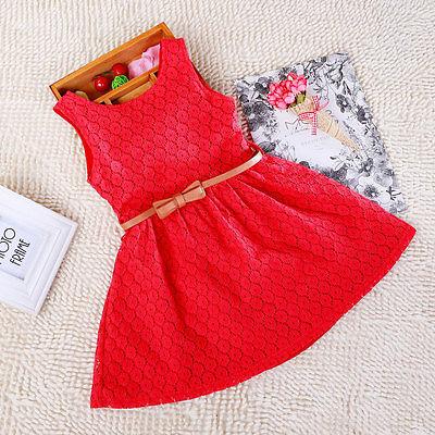 Hot meninas roupas de bebê menina princesa vestido de renda mangas crianças vestido arco de flores de verão