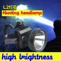 High power brightness headlight Powerful cree Led l2 rechargeable outdoor lighting headlamp lights for fishing hunting