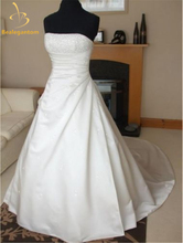 Bealegantom New Sweetheart Vinatge White/Ivory Wedding Dresses 2017 Beaded Satin Bridal Gown Stock 2-4-6-8-10-12-14-16 QA999