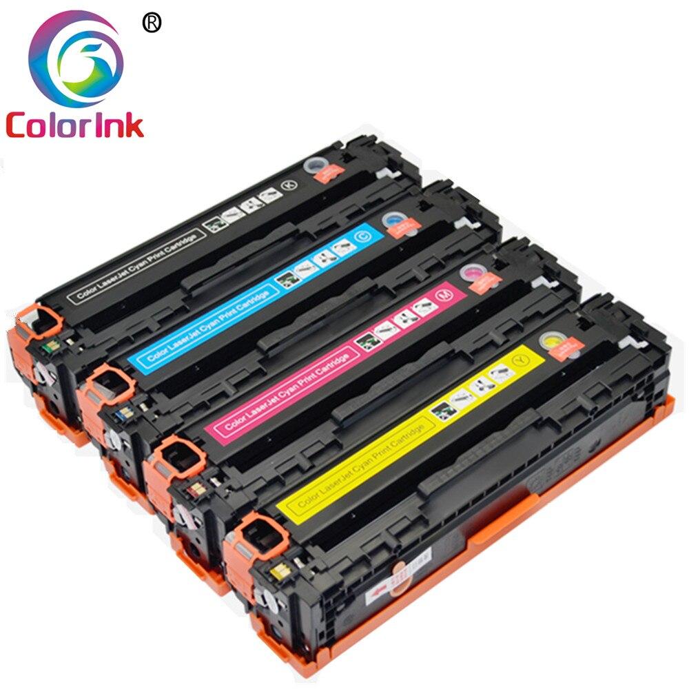 خرطوشة حبر ملونة CF210A 540A CB540A CB541A CB542A CB543A لطابعة HP لون ليزر جيت CP1215 CP1515n CP1518ni CM1312