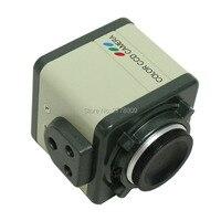 800TVL 1/3 CCD Digital Industry Microscope Camera Set CS C Mount Lens Support BNC Color Video Output F SMD BGA PCB Soldering