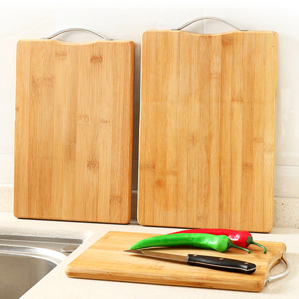 Kitchen Bamboo Chopping Boarding With Handle Cutting Board for Meat Fruit Vegetables Durable Bead Cutting Board Supplies 1pc(China)