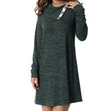 31fa486f5ca Laamei осень зима для женщин Мини платья теплый поворот нерегулярные  средства ухода за кожей Шеи с длинным рукавом повседневные .