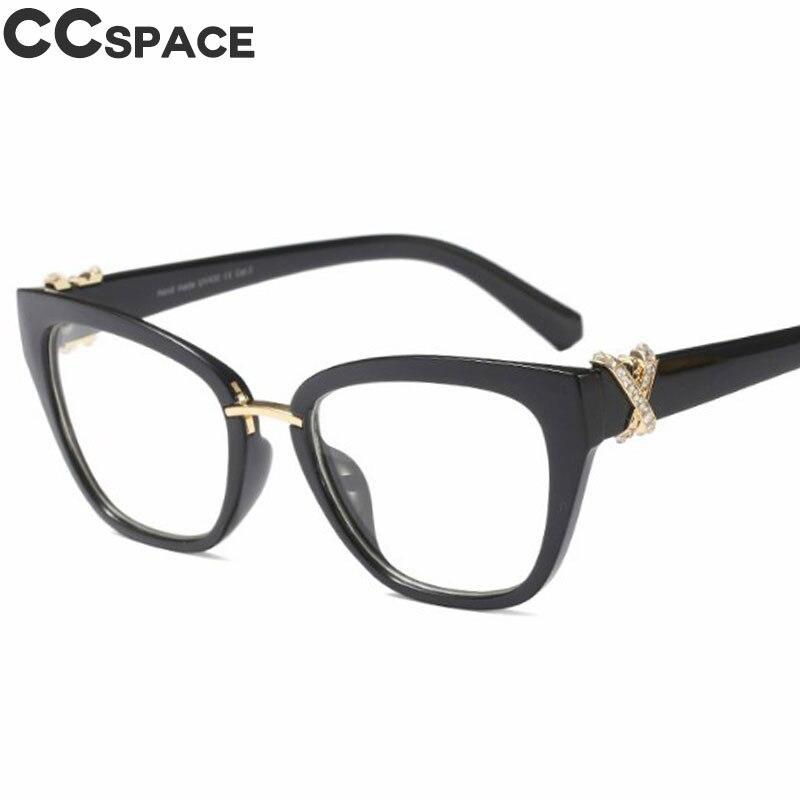 2018 Luxus Strass Glasrahmen Frauen Cat Eye Brillen Zubehör Designer Mode In Der Nähe Kurzsichtig Computer-brille 45605 Neueste Technik