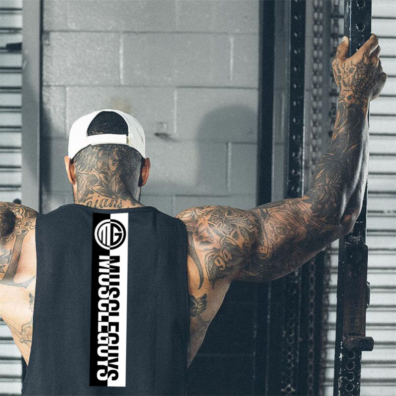 Muscleguys Fitness   Tank     Top   Men Bodybuilding Clothing Men Sleeveless Shirt Golds Vests Cotton Gyms Singlets Muscle Tanktop