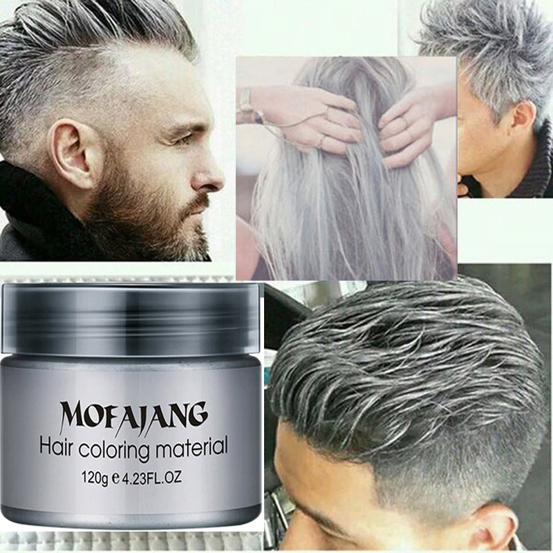 Unisex Hair Color Mud Wax Dye One-Time Molding Paste Grandma Gray Color Temporary Hair Color Cream Styling Tools Hair Care 120g hair care ojon color sustain color protecting cream for color treated hair 125ml 4 2oz