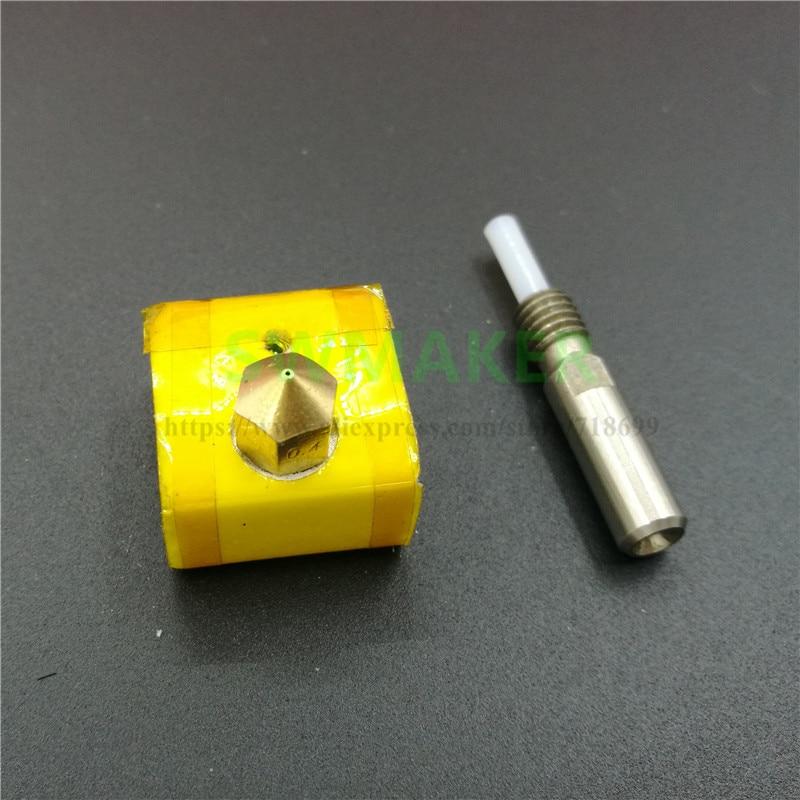 SWMAKER CTC/Flashforge 3D printer spare parts/accessories hotend kit PTFE inside nozzle+heater block+heat break/barriel+insulati