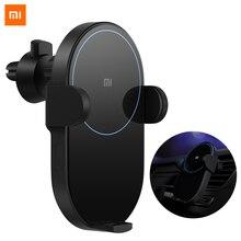 100% оригинальное беспроводное автомобильное зарядное устройство Xiao mi 20 Вт Max Electric Auto Pinch 2.5D glass Ring Lit для mi 9 (20 Вт) mi X 2 S/3 (10 Вт) Qi