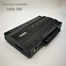 ZK Inbio260 Tcp/Ip アクセス制御システム 2 ドアセキュリティアクセスコントローラ IP ベースの二重ドアのアクセス制御パネル Inbio 260