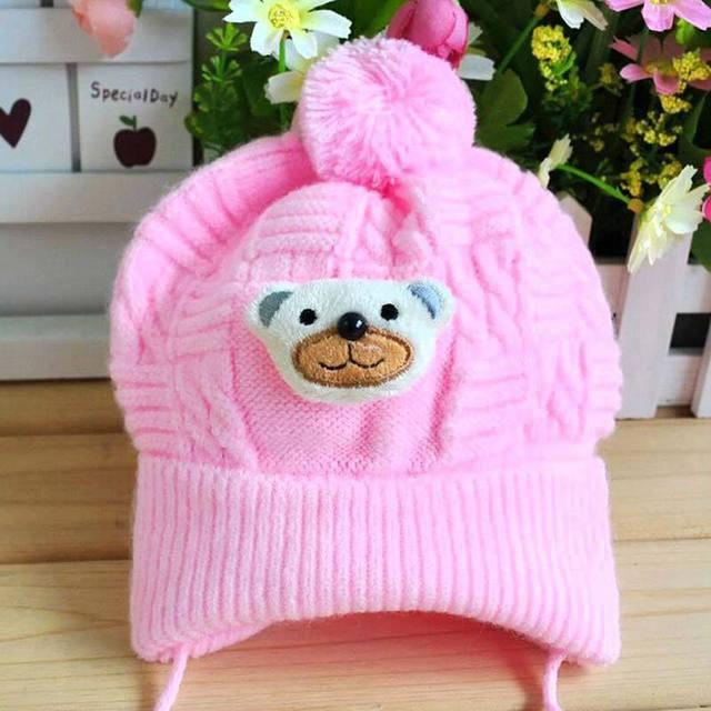 Cute Baby Soft Crochet Bear Hat