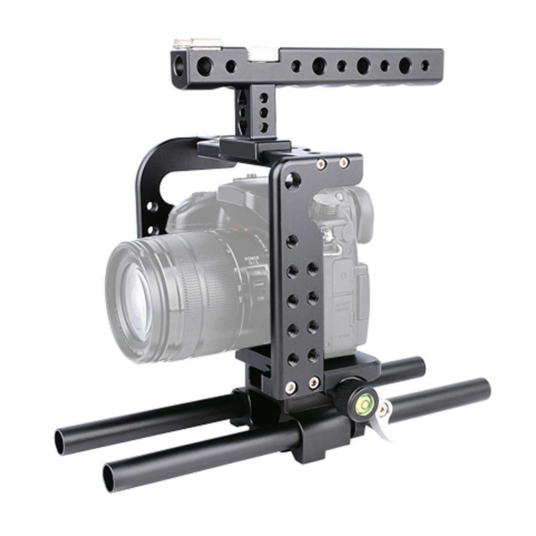 Camera Cage + Top Handle + Rail Rod Kit Protecting Case Mount Video Stabilizer Cage kit for Panasonic Lumix GH5 GH4 Camera Cage + Top Handle + Rail Rod Kit Protecting Case Mount Video Stabilizer Cage kit for Panasonic Lumix GH5 GH4