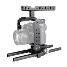 цены Camera Cage + Top Handle + Rail Rod Kit Protecting Case Mount Video Stabilizer Cage kit for Panasonic Lumix GH5 GH4