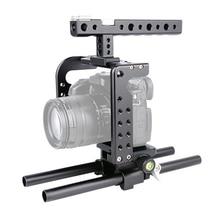 купить Camera Cage + Top Handle + Rail Rod Kit Protecting Case Mount Video Stabilizer Cage kit for Panasonic Lumix GH5 GH4 по цене 4926.52 рублей