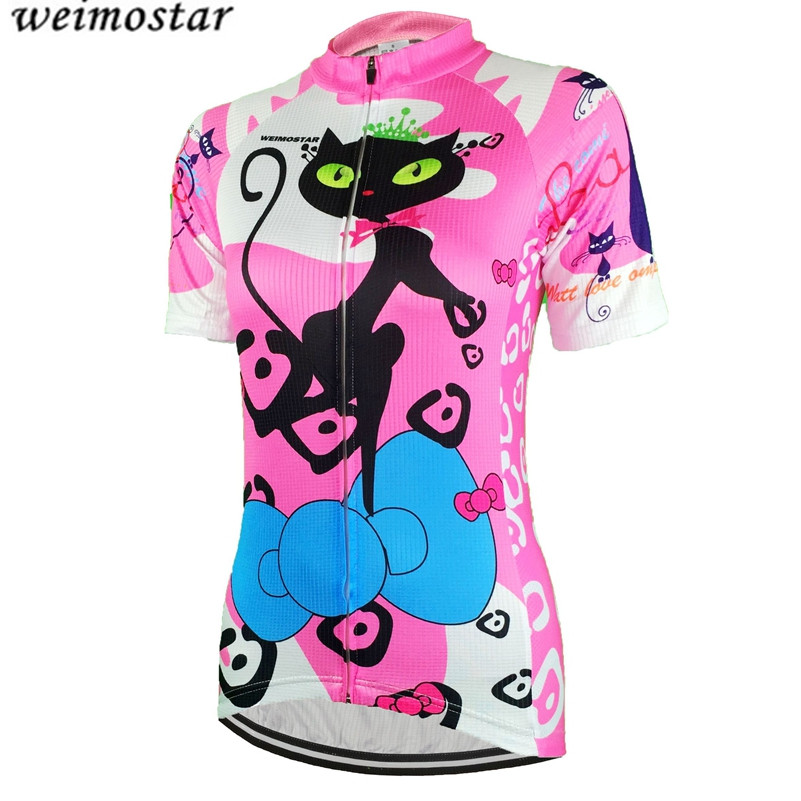 Weimostar Donna MTB Bicicletta Ciclismo Jersey a Maniche Corte Tops Traspirante Mountain Road Bicicletta MTB Shirts