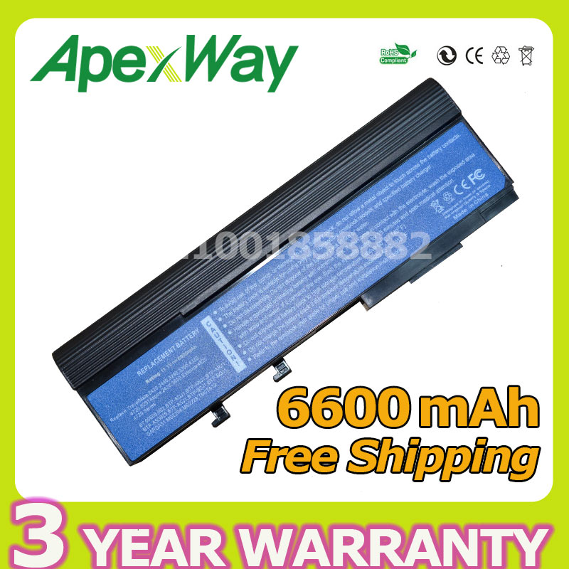 Apexway Battery For Acer TravelMate 4520 6292 6492 6493 6553 2420 2440 3240 3280 4330 4720 6231 6291 6593 6593G 2420A 4730 6252
