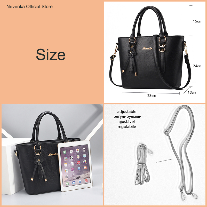Nevenka New Design Women Fashion Style Handbag Female Luxury Chains Bags Sequined Zipper Messenger Bag Quality Pu Leather Tote01