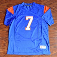 MM MASMIG Alex Moran #7 Blue Mountain State Football Jersey Cosido Azul S M L XL XXL XXXL 4XL