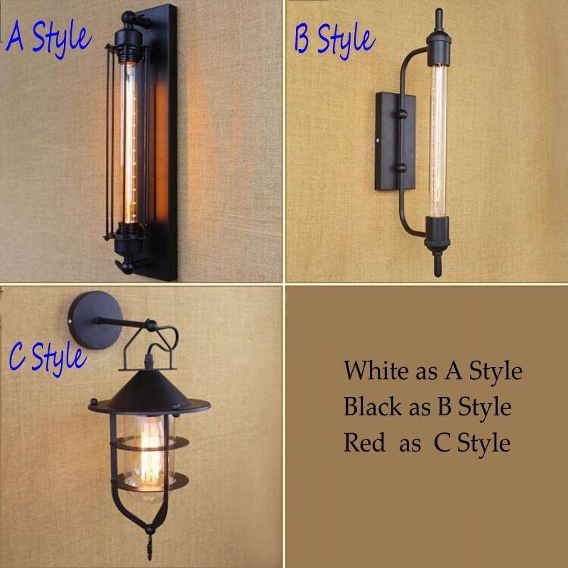 ФОТО RH Loft Retro Vintage Antique Wall Lamps Iron decoration Wall lights Fixtures 110V 220V E27 edison bulb DIY for Free Shipment