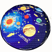 Papa&Mama Planet Toy Storage Bag diameter 1.5m baby Crawling multifunctional round blanket Play Rug/Mat/Carpet