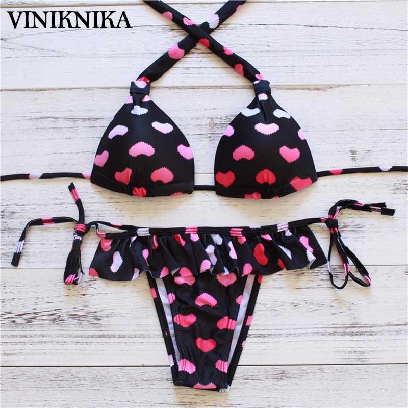 VINIKNIKA 2019 Hot Cute Girls Imprimir Split traje de baño Corazón - Ropa deportiva y accesorios - foto 1