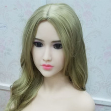 #109 Asian face sex doll head for big size oral love dolls 135cm/140cm/148cm/153cm/152cm/155cm/158cm/163cm/165cm/170cm/176cm