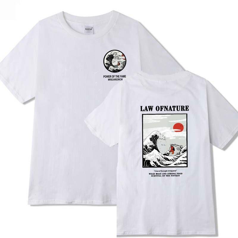 Nova Onda da cópia Do Gato camiseta de Manga Curta de algodão T camisa Homme hip hop Streetwear Casual Camisa camiseta hombre homens camiseta S-2XL
