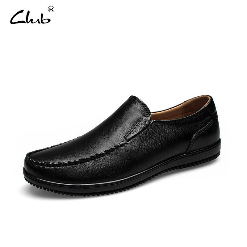 Club 2017 Fashion Brand Men Casual Shoes Plus Size 37-47 Genuine Leather Flats Shoes Slip-on Men Loafers Mocassin Homme 2017 summer breathable men casual shoes genuine leather shoes men comfortable loafers for men flats plus size men s