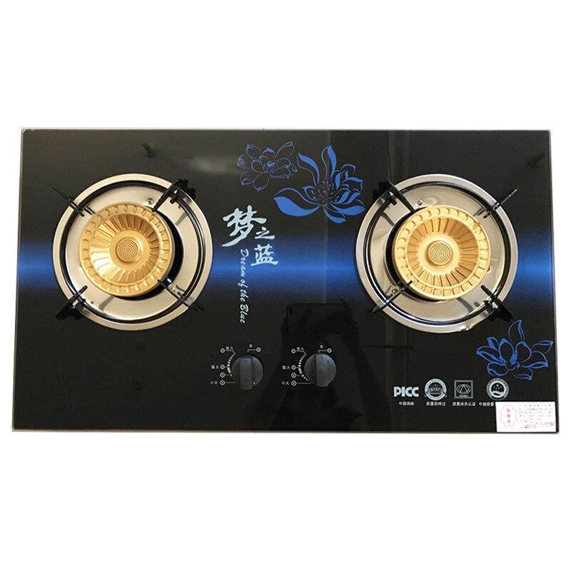 Table de cuisson à gaz liquéfié table de cuisson double cuisinière en verre trempé entrée complète plaque de cuisson à Air appareils de cuisine