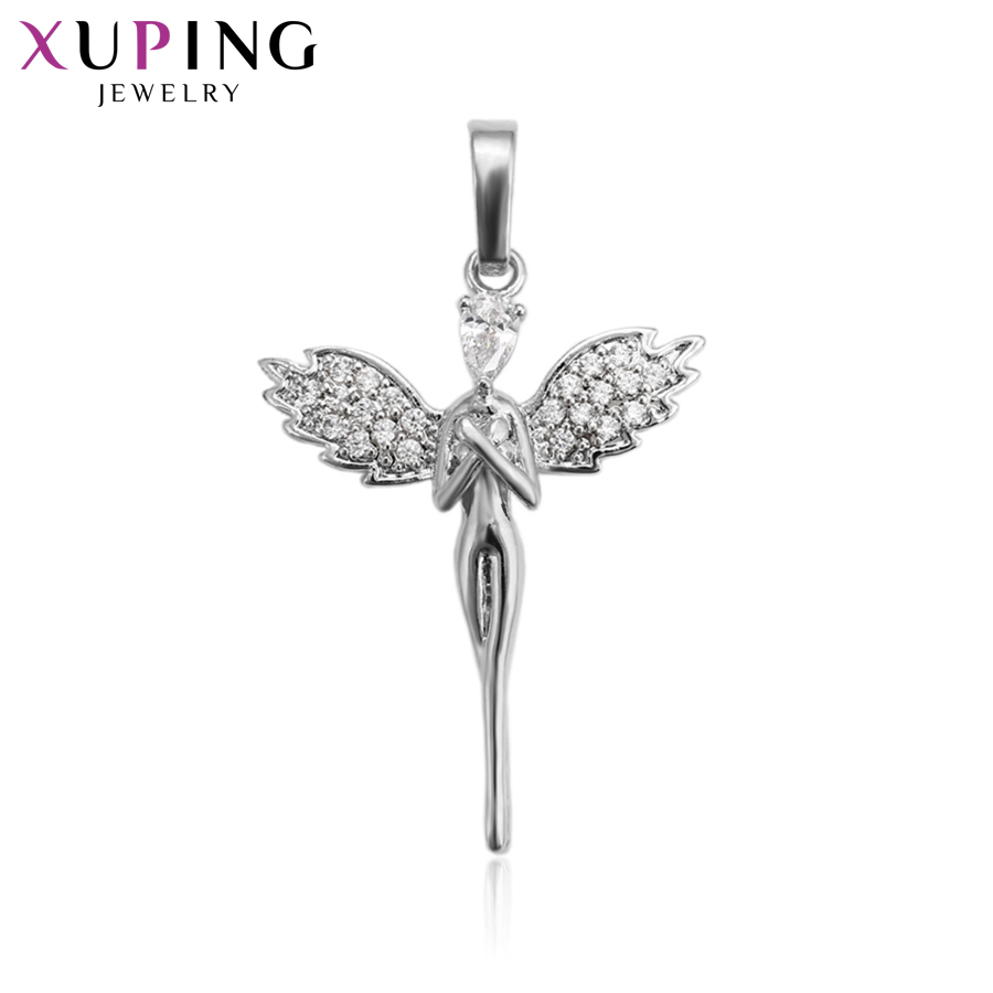 11.11 Deals Xuping Fashion Charm Style Necklace Pendant With Synthetic CZ for Women Girls Jewelry Black Friday Gifts S81,6-33357