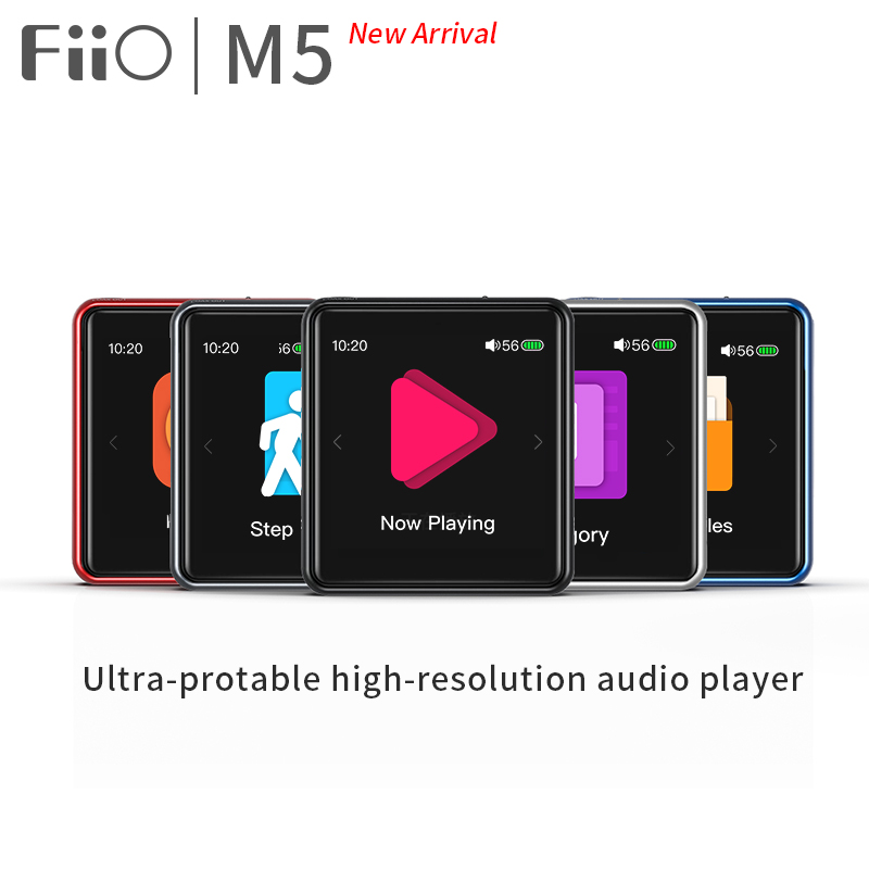 FiiO M5 HiFi MP3 player AK4377 CSR8675 32bit 384kHz Native DSD128 Touch Screen aptX LDAC transmit
