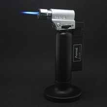Torch Turbo Lighter Jet Butane Cigar Lighter Gas Cigarette Accessories 1300 C Spray Gun Fire Windproof Pipe Lighter cigar spray lighter windproof and blue fire pipe lighter cigar cigarette lighter men s business gift