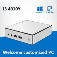 Mini PC Intel Core i3 4010Y Dual core 1.30GHz Mini Computer HDMI Windows 10 PC Mini Nettop Portable Barebone Computer Office
