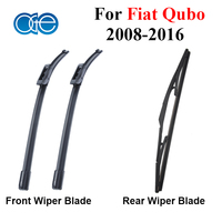 Oge Front And Rear Windshield Wiper Blades For Fiat Qubo 2008 2016 Windscreen Silicone Rubber Auto