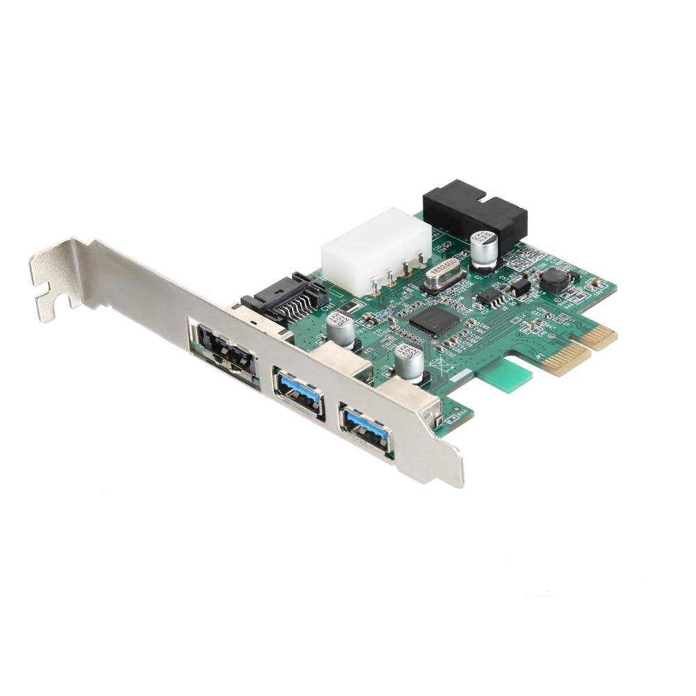 External 2 Ports USB 3 0 + 1 Port Powerr eSATA 3 0 (compatible with